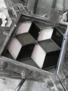 molde mosaico calcáreo